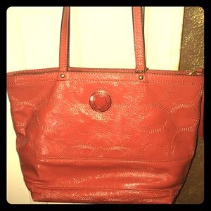 Coach coral orange purse